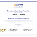Jim Wilson Received Professional Coach Certification from the ICF
